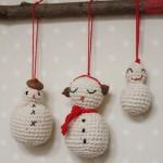 TDN – Bonhommes de Neige en Crochet – 25 Decembre