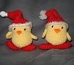 TDN – Poussins de Noël en Crochet – Je crochète, Tu cuisines Elle tricote