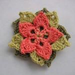 TDN – Broche fleur au crochet – Annette Petavy Design