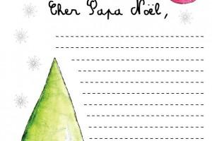 Lettre à Papa Noël – Printable