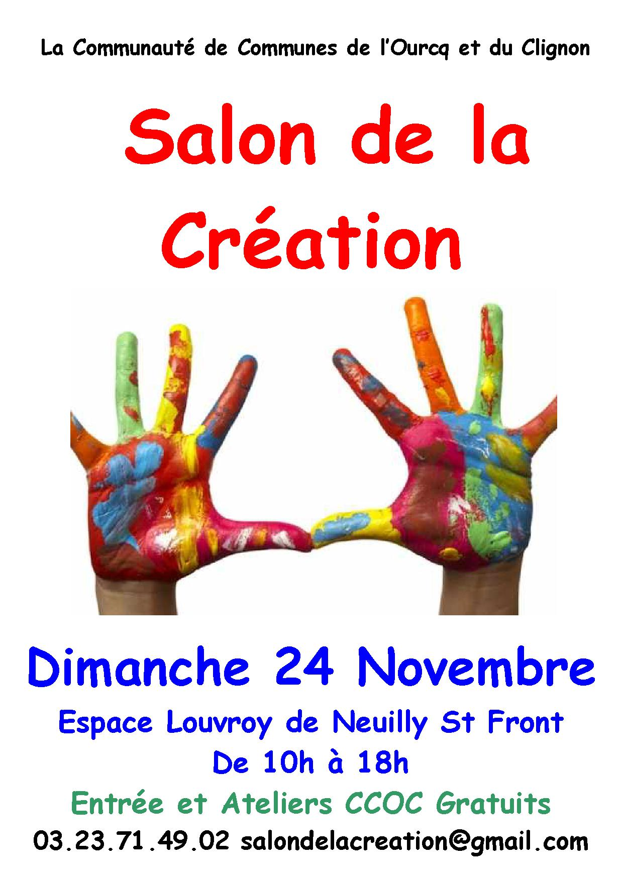 Salon de la cr ation le 24 novembre prochain jiji hook for A new creation salon
