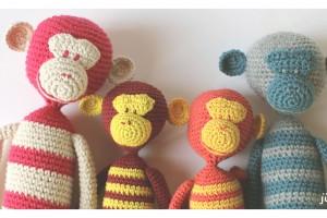 Ma famille Monki en Crochet