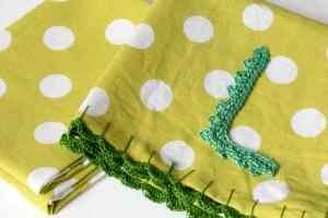 Serviettes de Table avec du Crochet