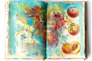 Fruits d'été et mixed media