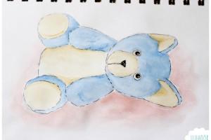Mon ourson à l'aquarelle