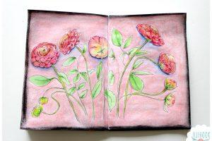Des renoncules roses
