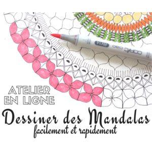 mandala, dessiner des mandalas, mandalas débutant, atelier mandala, atelier créatif mandala