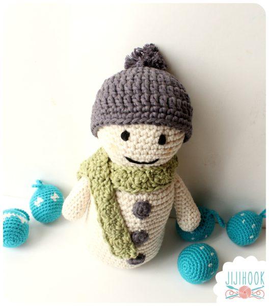 Au Crochet qui maille...: kit bonhomme de neige ? gagner....
