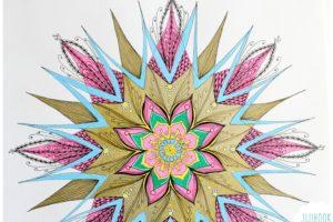 Mandala avec des feutres UniBall