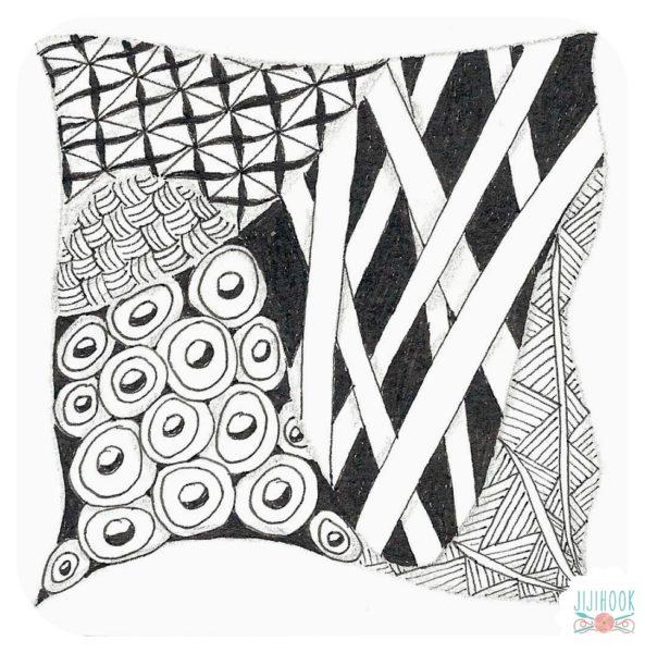 zentangle, dessin facile a faire, gribouillage, dessin zen, zentangle tuto, motif dessin, dessin relaxation, dessin zentangle, motif zentangle,