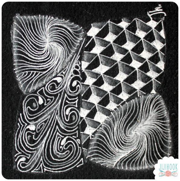 zentangle, dessin facile a faire, gribouillage, dessin zen, zentangle tuto, motif dessin, dessin relaxation, dessin zentangle, motif zentangle, diplome zentangle, czt, flux,