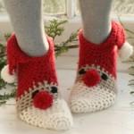TDN – Chaussettes de Noël en Crochet – Drops