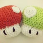 Champignons Mario en crochet
