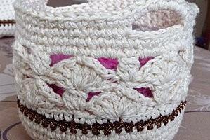 TDN – Panier au crochet – Des Idées et des Mains