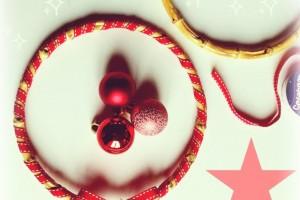 Une Couronne de Noël avec une Anse de Sac