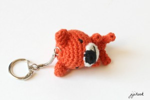 Porte-clé Ourson en Crochet
