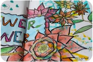Des Fleurs dans mon Artjournal