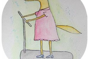 Une Belette sur une Trottinette