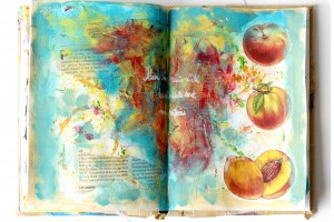 Fruits d'été et mixed media