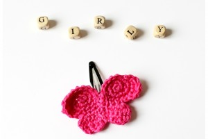 Barrette Papillon en Crochet