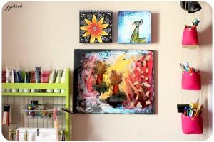 Acrylique et Collages sur Toile