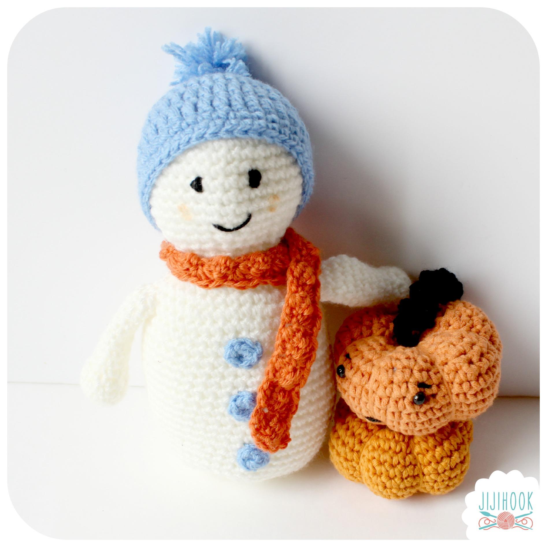 Bonhomme de neige en crochet jiji hook - Bonhomme de neige au crochet ...