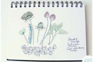 Un bout de jardin dans mon artjournal