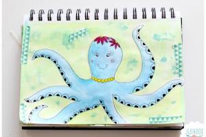 Une Pieuvre dans mon Artjournal