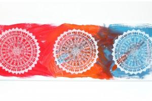 Mandalas sur Toile – Les Trois Roues