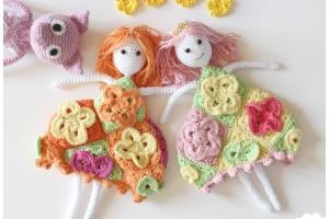 princesse, granny square, crochet, amigurumis, patron crochet, tuto crochet