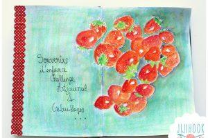 Mes vidéos – des fraises peintes dans mon artjournal