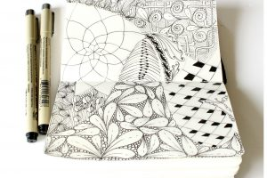 Défi Zentangle et Artjournal