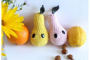 poires, crochet, amigurumis, patron crochet, tuto crochet