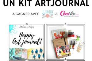 Un kit Art Journal à gagner jusqu'à dimanche !