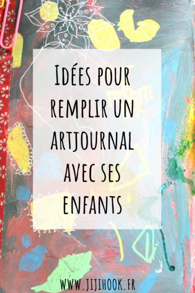 artjournal, carnet créatif, défi artjournal, thème artjournal, expression créative, lâcher-prise, artjournal avec enfants, créer avec ses enfants