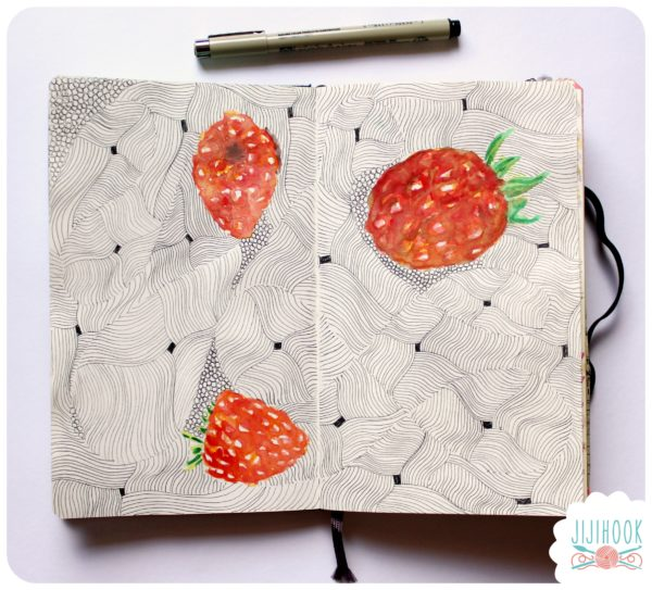zentangle, dessin facile a faire, gribouillage, dessin zen, zentangle tuto, motif dessin, dessin relaxation, dessin zentangle, motif zentangle, artjournal, diy artjournal, mixed media, creativite, carnet creatif, flinspiration artjournal, framboise artjournal, tuto artjournal