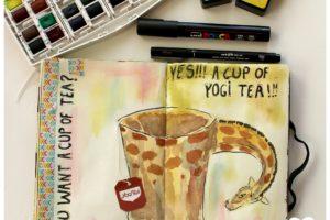 artjournal, diy artjournal, mixed media, creativite, carnet creatif, thé, artjournal thé, inspiration artjournal, teacup artjournal, teacup