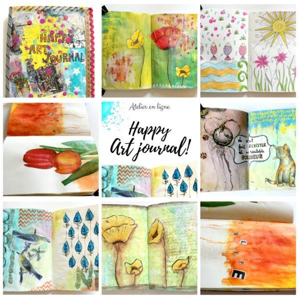 artjournal, atelier créatif, diy artjournal, collage, mixed media, creativite, journal creatif, carnet creatif