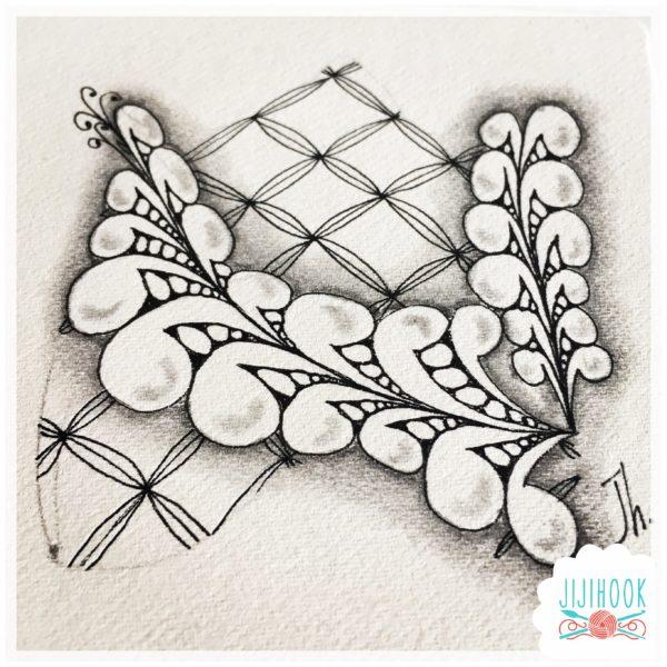 zentangle, dessin facile a faire, dessin zen, zentangle tuto, motif dessin, dessin relaxation, dessin zentangle, motif zentangle, diplome zentangle, czt, flux, inktobertangles, inktober