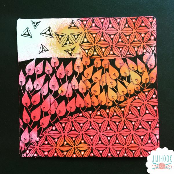 zentangle, dessin facile a faire, dessin zen, zentangle tuto, motif dessin, dessin relaxation, dessin zentangle, motif zentangle, zia, zentangle inspired art, art inspiré du Zentangle, noël zentangle, czt, tanglewishes, zentangle challenge