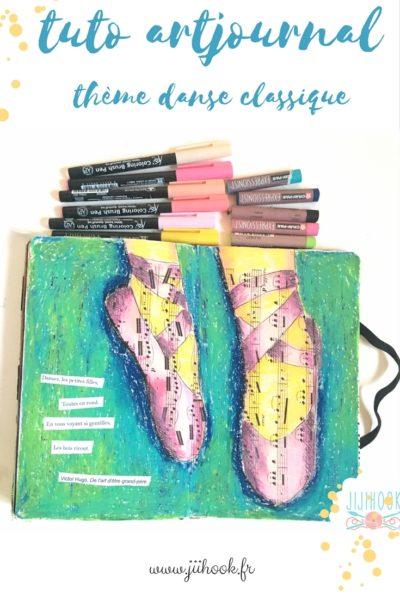 Un tuto pour faire une page d'artjournal avec des feutres aquarellables et des pastels à huile