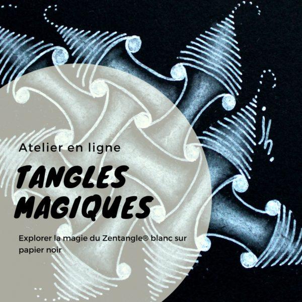 zentangle, atelier en ligne, atelier dessin, atelier tangles magiques, atelier zentangle, atelier relaxation