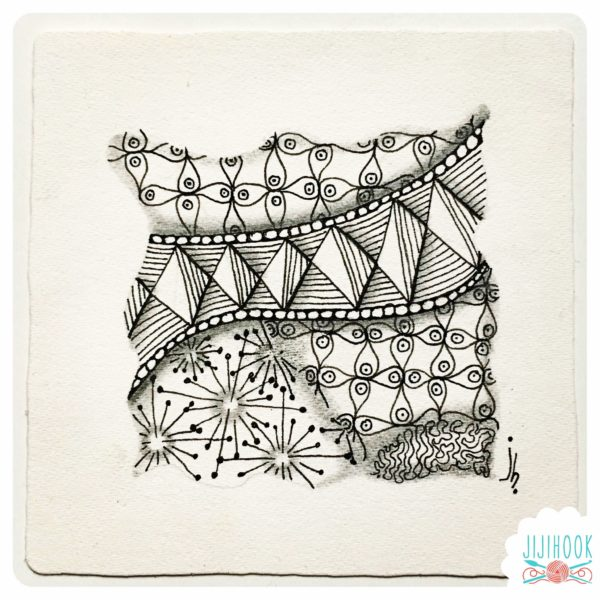 zentangle, jijihook, dessin zentangle