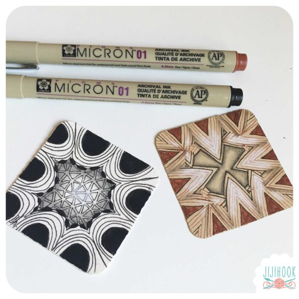 zentangle, jijihook, format bijou, apprendre le zentangle, méthode zentangle, atelier zentangle, cours zentangle