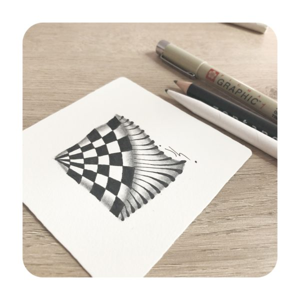 carré zentangle motif