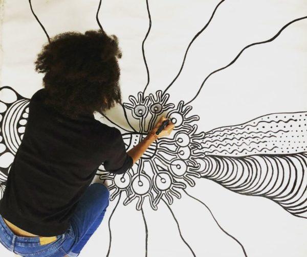 zentangle sur grande toile