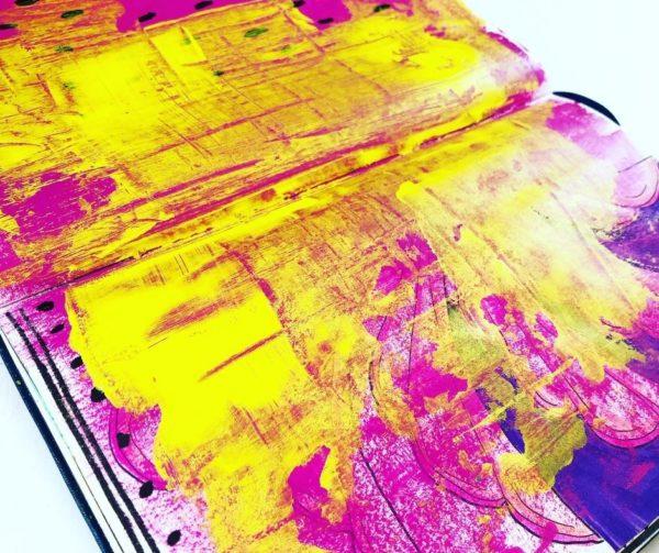 page art journaling