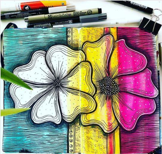rendu artjournal carnet mokeskine art journaling